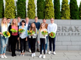BRAX welcomes 13 new apprentices and dual-programme student trainees