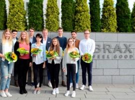 BRAX begrüßt 13 neue Azubis und duale Studenten